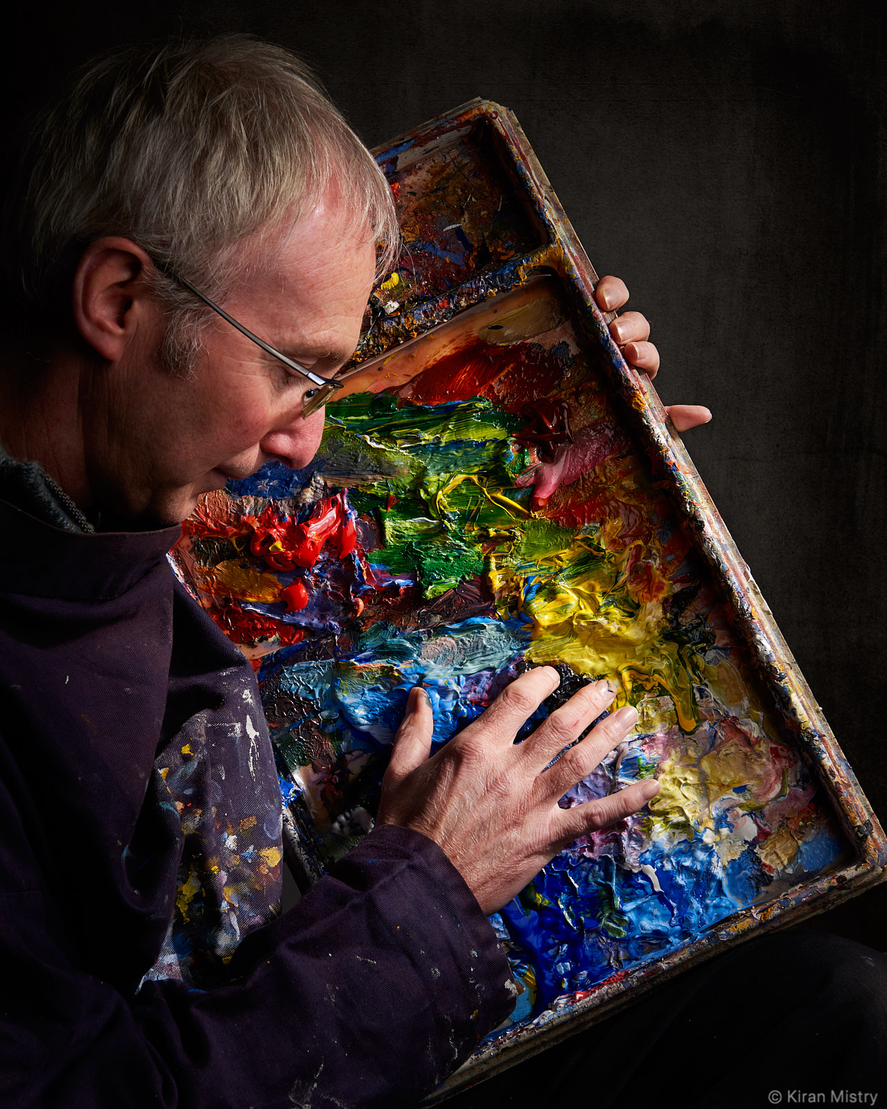 Artist Richard Clare with Paint Palette