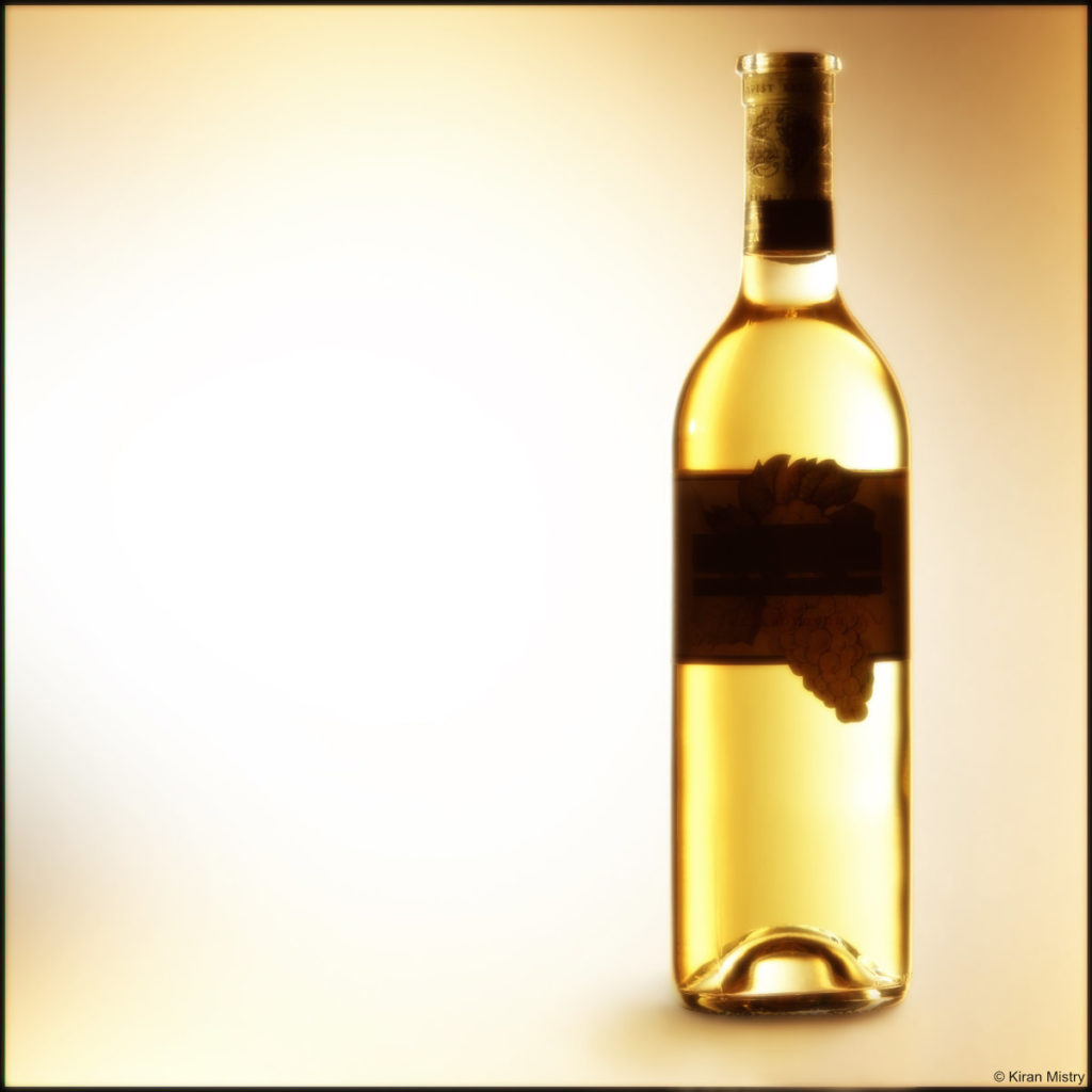 Gold bottle white wine